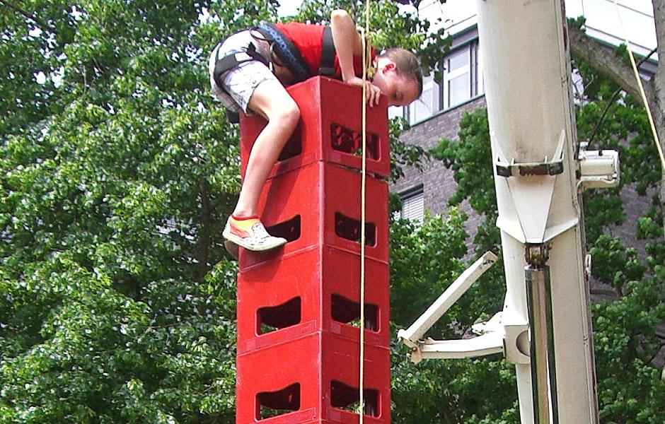 Kinderveranstaltungen Berlin Kistenklettern